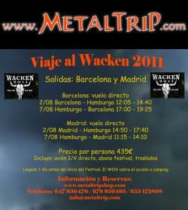 Viaje al Wacken 2011 desde Barcelona y Madrid