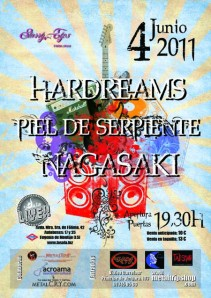 Hardreams + Piel de Serpiente + Nagasaki en Madrid