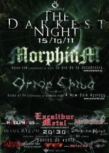 Morphium y Orion Child el 15/10 en Madrid