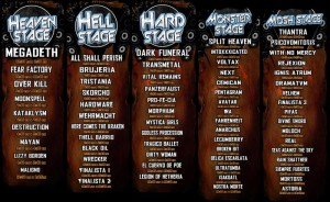 Horarios Hell & Heaven fest 2011