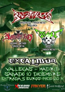 Breathless en Sala Excalibur