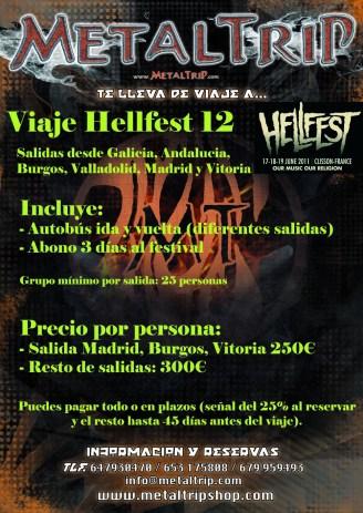 Viaje Organizado al Hellfest 2012