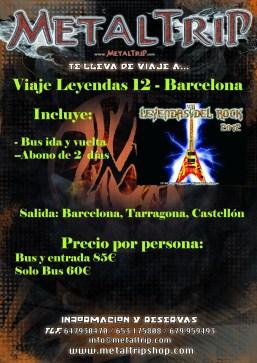 Viaje Organizado al Leyendas del Rock desde Barcelona