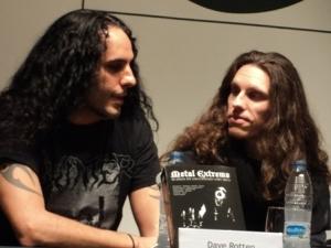 Dave Rotten (izda imagen)  y el autor - Salva Rubio