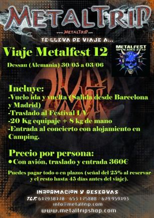 Viaje al Metalfest 2012 (Dessau - Alemania) desde Barcelona y Madrid