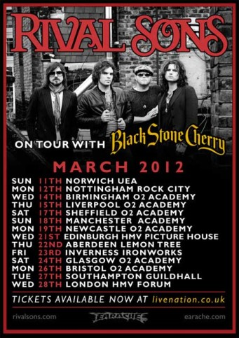 Rival Sons con Black Stone Cherry