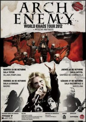 Gira de Arch Enemy. Octubre 2012