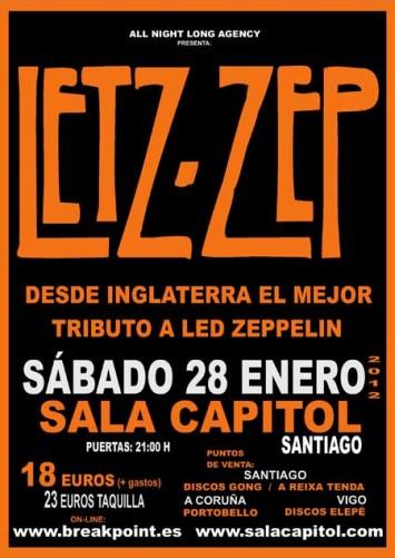 Letz Zep en Santiago de Compostela