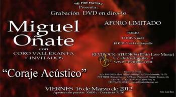 Miguel Oñate, grabación DVD