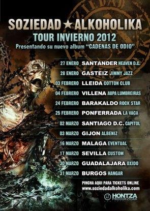 Soziedad Alkoholika. Tour Invierno 2012