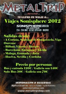Viajes Organizados al Sonisphere Festival 2012