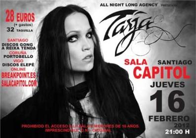 Tarja en Santiago de Compostela el 16 de febrero