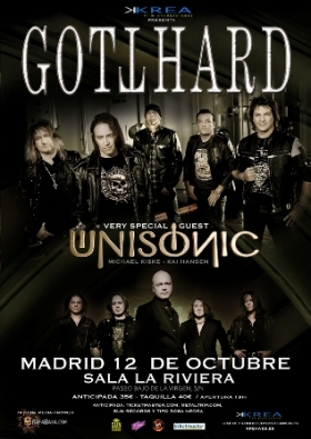 Gotthard y Unisonic en Madrid