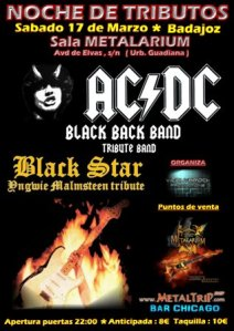 Tributo de AC/DC e Yngwie Malmsteen