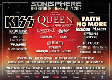 Sonisphere Knebworth 2012